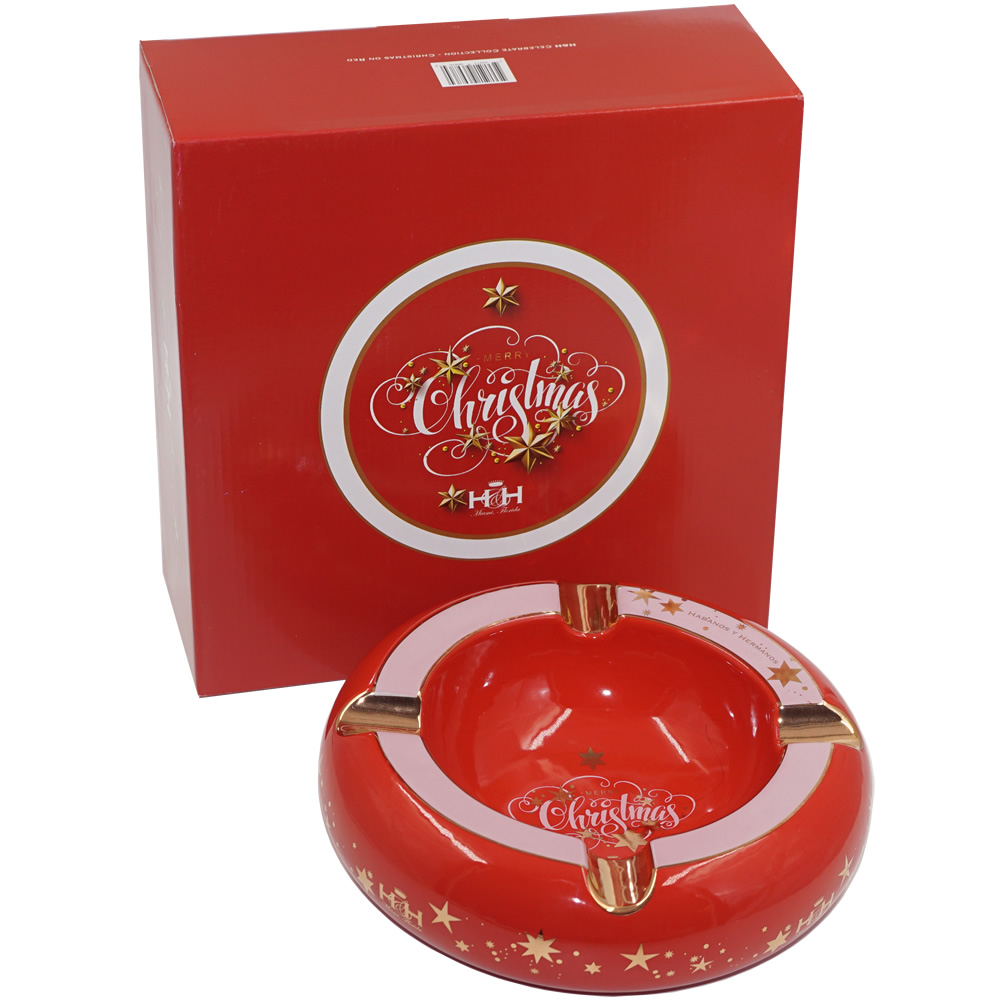 Cigar Ashtray - Celebrate Collection - Christmas on Red